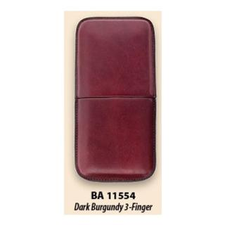 CASTLEFORD CIGAR3 LEATHER CASE BURGUNDY