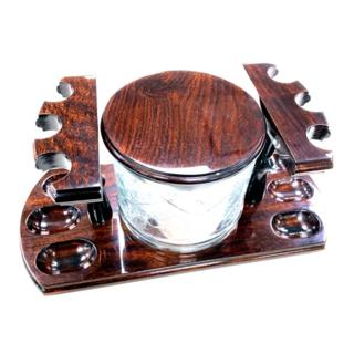 WOODMERE PIPE6 RACK 242 JAR WALNUT